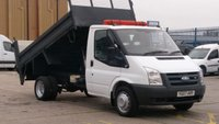 2007 FORD TRANSIT 2.4 350 MWB 115 1d 115 BHP TIPPER 1 OWNER F/S/H 8 SERVICE STAMPS WITH TAIL LIFT   12 MONTHS WARRANTY COVER /// £5390.00