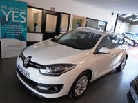 USED 2016 66 RENAULT MEGANE 1.5 DYNAMIQUE NAV DCI 5d 110 BHP Only 2 years old!!.. This Megane Diesel Estate is £0 road tax for 1 year!! It will average 60-70 mpg. Its due its first MOT in September 2019 & will be supplied with a minimum of 6 months warranty. This Megane is finished in white with Black leather /cloth seats. It is fitted with Renault Tom Tom Satellite Navigation, climate control, start stop/push button, cruise control, led daylights, power steering, remote locking, elec windows + more
