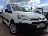 USED 2013 13 CITROEN BERLINGO 1.6 850 ENTERPRISE L1 HDI 89 BHP 1 OWNER FSH NEW MOT  FREE 6 MONTH AA WARRANTY INCLUDING RECOVERY AND ASSIST NEW MOT SPARE KEY REAR PARKING SENSORS ELECTRIC WINDOWS AND MIRRORS AIR CONDITIONING
