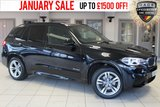 USED 2014 64 BMW X5 3.0 XDRIVE30D M SPORT 5d 255 BHP - full bmw service history  FULL BLACK LEATHER SEATS + FULL BMW SERVICE HISTORY + PRO SATELLITE NAVIGATION + XENON HEADLIGHTS + DAB RADIO + HEATED FRONT SEATS + PARKING SENSORS + CRUISE CONTROL + 19 INCH ALLOYS