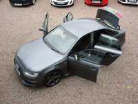 USED 2014 14 AUDI A4 2.0 TDI S LINE BLACK EDITION 2 4d 150BHP ONE OWNER FROM NEW, SAT NAV, BLUETOOTH, ALLOY WHEELS, FULL AUDI SERVICE HISTORY, MOT TILL JULY 2019, HPI CLEAR