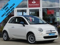 USED 2016 66 FIAT 500 1.2 DENIM EDITION 3d 69 BHP STUNNING Special Edition, Very Low Mileage, FIAT 500 1.2 DENIUM EDITION. Finished in Bossa Nova White with contrasting grey trim. Only 3 Years Old. This updated small retro-style car is ideal for the first time driver and small family. Features include Alloy wheels, DAB, Air Con, £20 Road Tax, 2 Keys, and Blue Tooth to name just a few. Dealer seviced at 9331 miles on 22/08/2018.