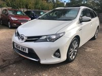 USED 2014 14 TOYOTA AURIS 1.8 VVT-I EXCEL 5dr AUTO ESTATE 98 BHP Full Leather, Nav, Pan Roof, FSH.