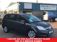 2010 VAUXHALL ZAFIRA 1.8 DESIGN ASTERIOD GREY MET 7 SEATER 139 BHP £3495.00
