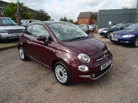2016 FIAT 500 1.2 LOUNGE 3d 69 BHP £7690.00