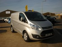 2016 FORD TRANSIT CUSTOM 2.2 270 LIMITED L1H1 PANEL VAN 125 BHP Air Con Bluetooth and more  £14995.00