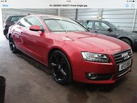 USED 2009 AUDI A5 2.0 TFSI SE 2d 178 BHP Looks stunning, 6 speed, black alloys, cream leather, 54000 miles, better is not available.