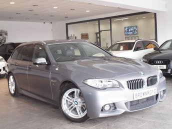 2013 BMW 5 SERIES 2.0 520D M SPORT TOURING 5d AUTO 181 BHP £11990.00