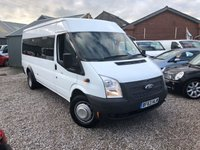 2013 FORD TRANSIT 2.2 430 SHR BUS 17 STR 1d 134 BHP £11495.00