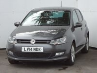 USED 2014 14 VOLKSWAGEN POLO 1.4 MATCH EDITION DSG 5d AUTO 83 BHP GREAT LOW MILEAGE HARD TO FIND MODEL, DSG AUTOMATIC GEARBOX, METALLIC PAINTWORK, FULL SERVICE HISTORY