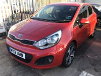 USED 2012 12 KIA RIO 1.4 3 5d 107 BHP One owner full service history, 62000 miles, great spec, superb.