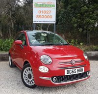USED 2015 65 FIAT 500 1.2 LOUNGE 3dr Pan Roof, A/Con, PDC