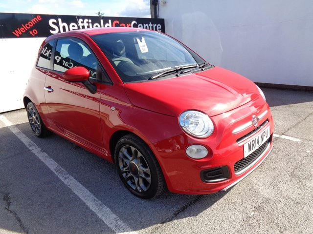 USED 2014 14 FIAT 500 1.2 S 3d 69 BHP air conditioning alloy wheels half leather sports seats and  trim bluetooth electric windows and mirrors full service history