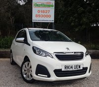 USED 2014 14 PEUGEOT 108 1.0 ACTIVE TOP 3dr Air Con, DAB, £0 Tax!