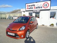 USED 2012 62 TOYOTA AYGO 1.0 VVT-I FIRE AC 67 BHP £22 PER WEEK, NO DEPOSIT - SEE FINANCE LINK