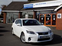 USED 2014 63 LEXUS CT 1.8 200H LUXURY 5dr AUTO ** Sat Nav + Leather + Rear Cam **