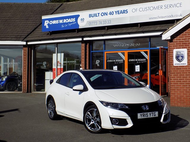 USED 2015 15 HONDA CIVIC 1.6 I-DTEC EX PLUS 5dr  * Nav + Pan Roof + Upgrade Alloys *