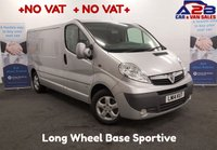 USED 2014 14 VAUXHALL VIVARO 2.0 2900 CDTI SPORTIVE LWB 115 BHP +NO VAT TO PAY+ Air Con, Alloys, Bluetooth, Alarm, F.S.H **Drive Away Today** Over The Phone Low Rate Finance Available, Just Call us on 01709 866668
