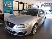 USED 2009 09 SEAT EXEO 2.0 SE LUX CR TDI 4d 141 BHP This low mileage 2 owner (SEAT UK + One private since it was 18 months Old) EXEO is basically an Audi A4!.  It's finished in Lunar Grey Metallic with Black leather seats. It is fitted with power steering, remote locking, electric windows and mirrors with power fold, dual zone climate control, cruise control, rear parking sensors, auto lights, Xenon lights, daylights and headlights, alloy wheels, CD Stereo with media port and more. It comes with a full Seat service history consisting of stamps.