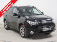 USED 2015 65 MITSUBISHI OUTLANDER 2.0 PHEV GX 3H 5d AUTO 162 BHP FULL LEATHER 4 x 4 1 owner and Full Mitsubishi History serviced 7th September at 2,241 miles, 4th September at 4,214 miles and 4th September  2018 at 6,220 miles, comes in stunning Pearlescent Paint Amethyst Black. This excellent example of a Mitsubishi Phev 4x4 AWD also comes with Full Leather, Privacy Glass, Leather Multi Functional Steering Wheel, Bluetooth, Air Con, Cruise Control, Parking Sensors, Alloys, keyless Entry and the balance of Mitsubishi Warranty until September 2020 and has an MOT up to Sept 2019