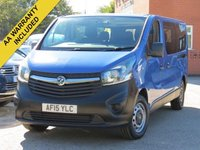 USED 2015 15 VAUXHALL VIVARO 1.6 COMBI CDTI 9 SEATER MINIBUS  VAT INCLUDED IN THE PRICE + 9 SEATER
