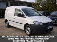 USED 2012 12 VOLKSWAGEN CADDY 1.6 TDI 74 BHP Van In White With Side Loading Door (NO VAT)
