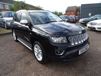 2014 JEEP COMPASS 2.4 LIMITED 5d AUTO 168 BHP £13990.00