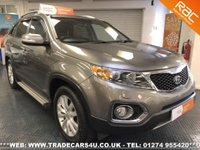 USED 2012 61 KIA SORENTO 2.2 CRDi KX-3 SAT NAV 7 SEATER DIESEL AUTO 4X4 UK DELIVERY* RAC APPROVED* FINANCE ARRANGED* PART EX