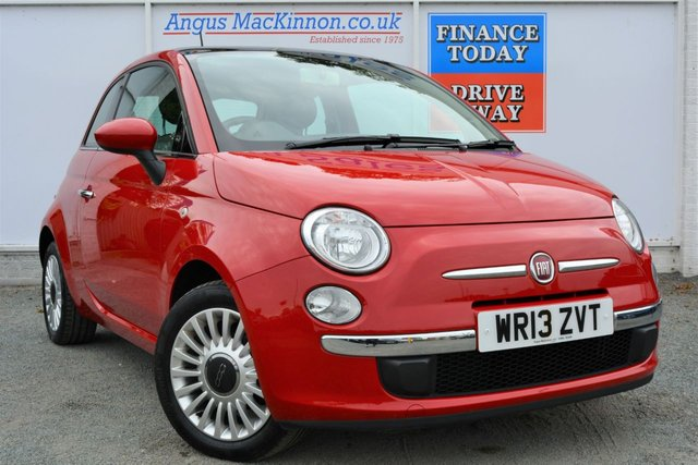 2013 13 FIAT 500 1.2 LOUNGE Great Value Petrol Hatchback with Low Road Tax and High 58mpg