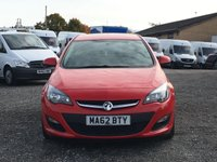 USED 2012 62 VAUXHALL ASTRA 1.3 CDTI ECOFLEX S/S ES 5d ONLY £20 ROAD TAX, FDSH, AC, CRUISE, BLUETOOTH,