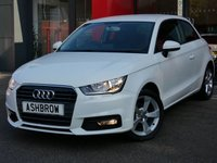 USED 2015 15 AUDI A1 1.0 TFSI SPORT 3d 95 S/S DAB RADIO, BLUETOOTH PHONE & MUSIC STREAMING, AUDI MUSIC INTERFACE (AMI), MANUAL 5 SPEED GEARBOX, START STOP TECHNOLOGY, FRONT FOG LIGHTS, 16 INCH 5 SPOKE ALLOYS, GREY TORNADO CLOTH INTERIOR, SPORT SEATS, LEATHER MULTIFUNCTION STEERING WHEEL, AIR CONDITIONING, CD & SD CARD READER, TYRE PRESSURE MONITORING SYSTEM, ELECTRIC WINDOWS, ELECTRIC HEATED DOOR MIRRORS, ISO FIX, FOLDING REAR SEATS.  1 OWNER FROM NEW, FULL AUDI SERVICE HISTORY, £0 ROAD TAX (97 G/KM), VAT Q