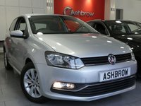 USED 2014 14 VOLKSWAGEN POLO 1.4 TDI SE BLUEMOTION 3d 75 S/S £0 TAX, 1 OWNER FROM NEW, FULL SERVICE HISTORY, BLUETOOTH W/ AUDIO STREAMING, USB + AUX IN, DIGITAL SPEED DISPLAY IN DRIVER'S INFORMATION SCREEN, CONVENIENCE TURN SIGNALS, LEATHER FLAT BOTTOM MULTI FUNCTION STEERING WHEEL, A/C, SD READER X1, CD DRIVE, ELECTRIC WINDOWS, ELECTRICALLY ADJUSTABLE HEATED DOOR MIRRORS, SPARE WHEEL + TOOLKIT, VAT Q