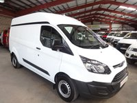 """USED 2014 14 FORD TRANSIT CUSTOM 2.2 290  P/V  L2 LWB SEMI HI ROOF-ONE OWNER-FULL SERVICE HISTORY """"YOU'RE IN SAFE HANDS"""" - AA DEALER PROMISE"""