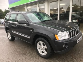 2008 JEEP GRAND CHEROKEE 3.0 V6 CRD LIMITED 5d AUTO 215 BHP £6200.00