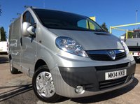 USED 2014 14 VAUXHALL VIVARO SWB 2.0 2900 CDTI SPORTIVE 113 BHP 1 OWNER FSH NEW MOT FREE 6 MONTH AA WARRANTY INCLUDING RECOVERY AND ASSIST NEW MOT SPARE KEY ROOF RACK AIR CONDITIONING ELECTRIC WINDOWS AND MIRRORS BLUETOOTH 6 SPEED RACKING