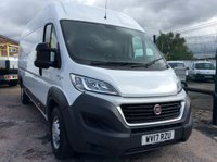 USED 2017 17 FIAT DUCATO LWB L4 H2 2.3 35 H/R MULTIJET II 129 BHP 1 OWNER FSH MANUFACTURER'S WARRANTY SPARE KEY ELECTRIC WINDOWS AND MIRRORS BLUETOOTH 6 SPEED