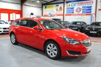USED 2015 15 VAUXHALL INSIGNIA 2.0 TECH LINE CDTI 5d AUTO 160 BHP RED ESTATE