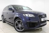 USED 2014 14 AUDI Q7 3.0 TDI QUATTRO S LINE SPORT EDITION 5DR 242 BHP Full Service History FULL AUDI SERVICE HISTORY + HEATED LEATHER SEATS + 360 VIEW CAMERA + 7 SEATS + SIDE STEPS + PARKING SENSOR + BLUETOOTH + BOSE SOUND SYSTEM + CRUISE CONTROL + MULTI FUNCTION WHEEL + 21 INCH ALLOY WHEELS
