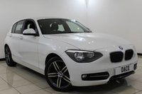 USED 2012 62 BMW 1 SERIES 1.6 114I SPORT 5DR 101 BHP BMW SERVICE HISTORY + BLUETOOTH + CRUISE CONTROL + MULTI FUNCTION WHEEL + AIR CONDITIONING + 17 INCH ALLOY WHEELS