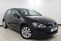 USED 2013 13 VOLKSWAGEN GOLF 1.6 SE TDI BLUEMOTION TECHNOLOGY 5DR 103 BHP VW SERVICE HISTORY + BLUETOOTH + CRUISE CONTROL + MULTI FUNCTION WHEEL + DAB RADIO + AIR CONDITIONING + 16 INCH ALLOY WHEELS