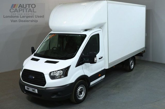 2017 17 FORD TRANSIT 2.0 350 L3 170 BHP EURO 6 LWB WITH TAIL LIFT LUTON VAN EURO 6 ENGINE 170BHP