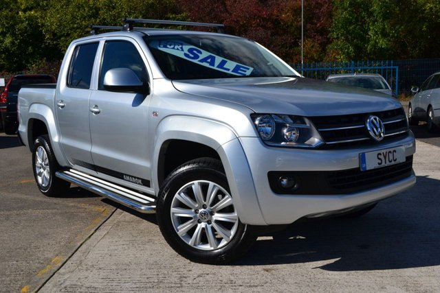 USED 2011 11 VOLKSWAGEN AMAROK 2.0 DC TDI TRENDLINE 4MOTION 4d 161 BHP SAT NAV ~ CHECKER PLATE COVER SAT NAV ~ GENUINE 38000 MILES ~ CHECKER PLATE REAR COVER ~ 2 KEYS
