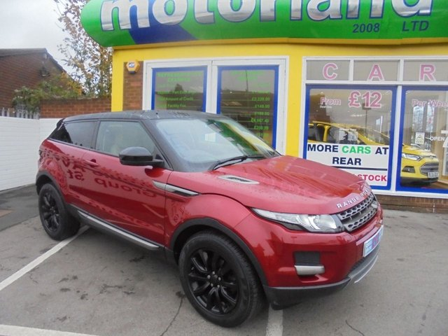 USED 2015 15 LAND ROVER RANGE ROVER EVOQUE 2.2 SD4 PURE TECH 3d AUTO 190 BHP **FULL SERVICE HISTORY** NO DEPOSIT DEALS 01543 379066