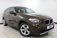 USED 2012 12 BMW X1 2.0 SDRIVE20D SE 5DR AUTOMATIC 174 BHP BMW SERVICE HISTORY + HEATED LEATHER SEATS + BLUETOOTH + PARKING SENSOR + MULTI FUNCTION WHEEL + CLIMATE CONTROL + 17 INCH ALLOY WHEELS