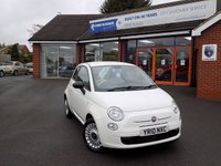 USED 2010 10 FIAT 500 1.2 POP 3dr ** Low Miles + Alloy Upgrade **