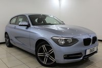 USED 2014 64 BMW 1 SERIES 2.0 120D SPORT 3DR 181 BHP SAT NAV 1 Owner Full Service History  FULL BMW SERVICE HISTORY + SAT NAVIGATION + BLUETOOTH + CRUISE CONTROL + MULTI FUNCTION WHEEL + AIR CONDITIONING + 17 INCH ALLOY WHEELS