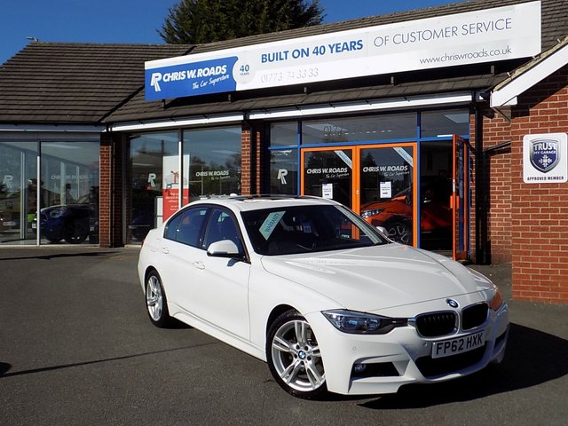 USED 2012 62 BMW 3 SERIES 330D M SPORT 4dr STEP AUTO (260) ** Sunroof + Leather + Cruise **