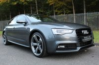 USED 2014 14 AUDI A5 2.0 SPORTBACK TDI S LINE BLACK EDITION S/S 5d AUTO 175 BHP A STUNNING BLACK EDITION HATCH WITH GREAT SPEC!!!