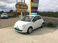 2014 FIAT 500  POP 1.2 3 DOOR IN WHITE **ONE LADY OWNER**ONLY 33000 MILES** £4995.00