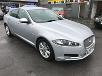 2012 JAGUAR XF 2.2 D LUXURY 4 DOOR AUTOMATIC 163 BHP IN SILVER WITH 107000 MILES IN IMMACULATE CONDITION. £9299.00